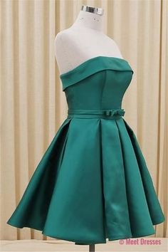Homecoming Dress,Satin Homecoming Dresses,Short Prom Dress,Strapless Evening Dress,Summer Prom Dress,Simple Homecoming Gowns,Fitted Evening Gowns PD20183896 #homecomingdresses