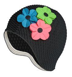 2c58a96d0de Enjoy exclusive for Latex Swim Cap - Women Stylish Swimming Cap Great  Ladies, Perfect Keep Hair Dry - Suitable Long Hair - Bubble Crepe Black  Pink, Green, ...