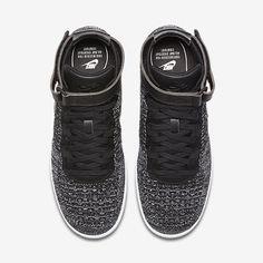 best service fdea4 22b9b Chaussure Nike Air Force 1 Pas Cher Homme Ultra Flyknit Noir Blanc Noir