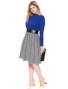 View our Printed Sweater Skirt and shop our selection of designer women's plus size Skirts, clothing and fashionable accessories. Plus Size Skirts, Full Skirts, Plus Size Tops, Curvy Girl Fashion, Plus Size Fashion, Sweater Skirt, Office Outfits, Work Attire, How To Look Pretty