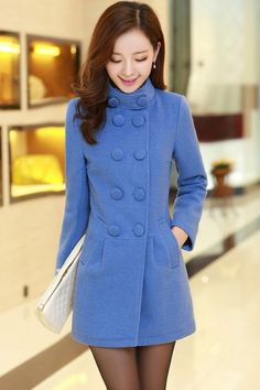 The coat featuring solid color. The thermal coat perfectly prepared for your winter best pairs with a leggings and a boots from OASAP. Winter Outfits, Casual Outfits, Cute Coats, Outerwear Women, Winter Wear, Korean Fashion, Jackets For Women, Fashion Dresses, Glamour