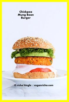 Chickpea And Lentil Burger Recipe.Red Lentil Smashed Chickpea And Millet Burgers. 10 Best Vegan Burger Recipes You Must Try. BBQ Lentil Veggie Burger With Mango Carrot Slaw Vegan . Home and Family Vegan Veggie Burger, Chickpea Burger, Lentil Burgers, Vegetarian Sandwiches, Vegetarian Meals, Burger Recipes, Vegan Recipes, Burger Toppings, Vegan Food