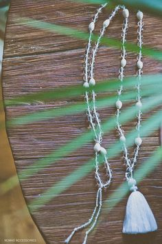 CLEAR YOUR MIND Mala Beads Clear Glass Quartz and Vaijayanti