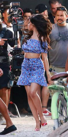 """Camila Cabello behind the scenes for the """"Hey Mama""""video shoot"""
