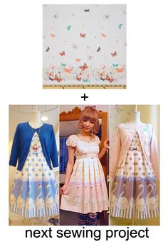 cute fabric from fabric.com + babydoll dresses from this http://27.media.tumblr.com/tumblr_lz7xqmoHE01qakgn1o1_500.jpg, put it together and cuteness for me!