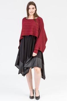 Merlot style. Wine colour fashion. Cardigan. Plum colour. Knitwear. Black dress. Black heels. K+K women's plus size fashion sizes 10-26.