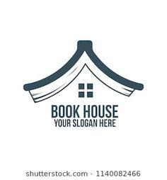 book house and abstract logo concept for company, corporate, foundation, business, startup and enterprise. Enterprise Logo, Library Logo, Logo Sketches, Branding Design, Logo Design, Rainbow Logo, Book Logo, Education Logo, School Logo