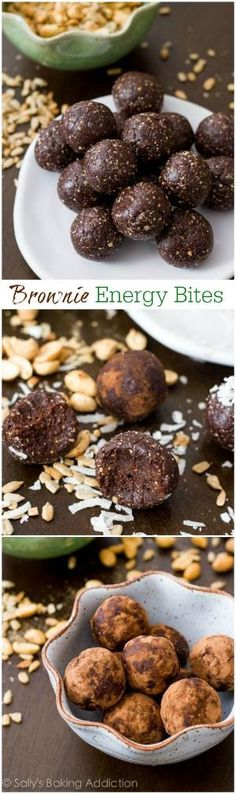 Healthy, wholesome naturally sweetened chocolate brownie truffles made from good-for-you ingredients!! by lupe