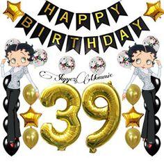 Betty Boop Happy 39th Birthday, Happy 39th Birthday Betty Boop Birthday, 39th Birthday, Mickey Mouse, Disney Characters, Fictional Characters, Symbols, Happy, Art, Art Background