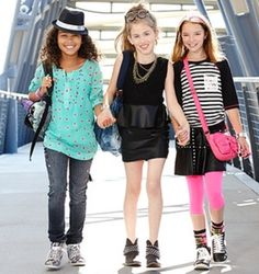 Take a look at the Tween Week: The Rocker Girl event on today! Back School Outfits, Outfits For Teens, Trendy Outfits, Fashion 101, School Fashion, Kids Fashion, Autumn Fashion, Young Fashion, Fashion Ideas