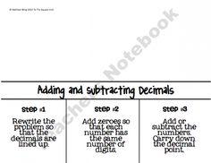 adding and subtracting decimals  line up, annex, compute