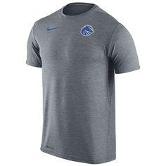 Men's Nike Boise State Broncos Dri-FIT Touch Tee, Size: Medium, Grey