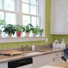 Kitchen Wall Colors:  A Picture Gallery From Major Paint Manufacturers: Kitchen Wall Colors:  Mint Green For a Garden Feeling