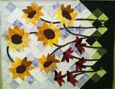 Sunflowers & Coneflowers Hand Applique