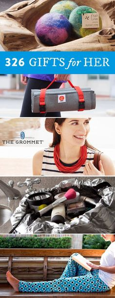 Discover 326 unique gifts for her like accessories, clothing, and jewelry to keep her looking great, feeling fabulous, or just improve everyday life. Great gifts for mom, gifts for daughters, and gifts for grandma.