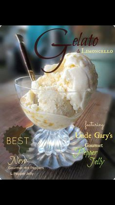 Uncle Gary's Pepper Jelly Gelato
