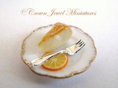 OOAK Orange Cheesecake On White Bakery by CrownJewelMiniatures,
