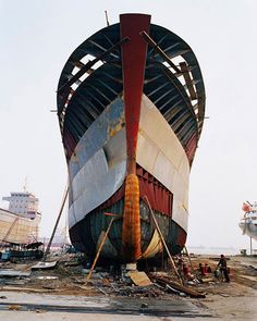 Edward Burtynsky Shipyard