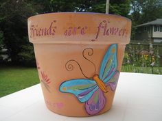 My painted clay pot 2009.