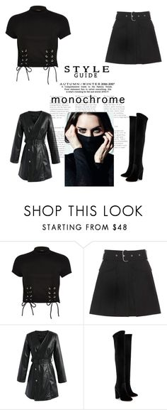 """Untitled #4527"" by im-karla-with-a-k ❤ liked on Polyvore featuring River Island, Acne Studios, Chicwish and Aquazzura"