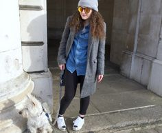 Denim Shirt and Grey coats