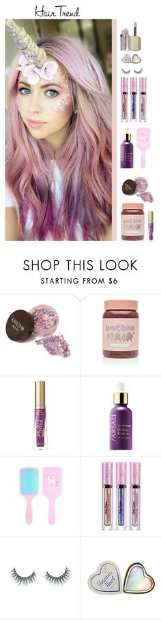"""Unicorn Hair"" by majezy ❤ liked on Polyvore featuring beauty, Lime Crime, Too Faced Cosmetics, Sephora Collection and Unicorn Lashes"
