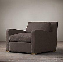 Belgian Slope Arm Upholstered Chair