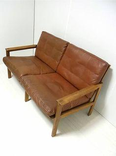 illum wikkelso easy chair n eilersen danish teak leather. Black Bedroom Furniture Sets. Home Design Ideas