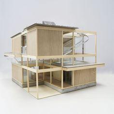 東京ミッドタウンで開催された「MAKE HOUSE展」のための提案... - #多重光 #東京ミッドタウンで開催されたMAKE Maquette Architecture, Japan Architecture, Studios Architecture, Architecture Graphics, Concept Architecture, Architecture Design, Bookstore Design, 3d Modelle, Arch Model