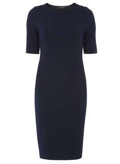 Navy Textured Bodycon dress - Dorothy Perkins