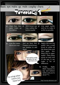 Basic male eye make up Tutorial 01 by ~ikumi00 on deviantART