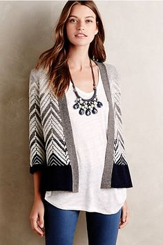 Love the detail on this cardi. And love that style of cardigan.