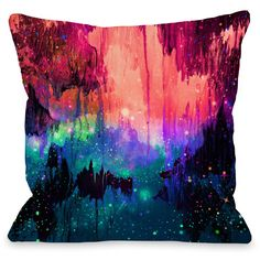 """Castles In The Mist"""" Indoor Throw Pillow by Julia Di Sano, 16""""x16"""