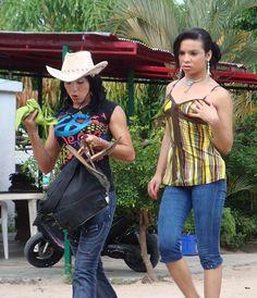Trans women in Bobure beach, Zulia State, Venezuela.