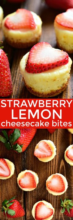 These Strawberry Lemon Cheesecake Bites combine the delicious flavors of strawberry and lemon in a sweet little bite sized treat!