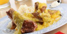 Receta del día: cerdo al curry con coco, una desafiante y suculenta composición gastronómica  Nota de kathe: la harina hace el papel de espesante por lo que puede ser empleado almidón de yuca, arrurúz, maíz o harina de plátano.