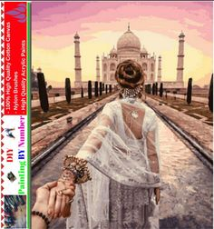 """Like and Share if you want this DIY Painting By Number – Taj Mahal (16""""x20"""" / 40x50cm)     Tag a friend who would love this!     FREE Shipping Worldwide     Buy one here---> https://artgiftworld.com/diy-painting-by-number-taj-mahal-16x20-40x50cm/"""
