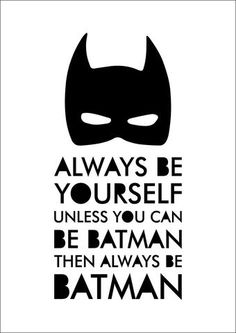 This 'Always Be Batman' print or canvas is the perfect addition to any l - Batman Decoration - Ideas of Batman Decoration - This 'Always Be Batman' print or canvas is the perfect addition to any little superhero's room or nursery!
