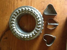 Tin heart mold from France / tin cookie cutters