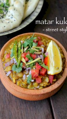 matar kulcha recipe, chole kulche recipe, kulche chole with step by step photo/video. matar chole, white peas curry is a delhi street food curry recipe. Paratha Recipes, Paneer Recipes, Veg Recipes, Curry Recipes, Vegetarian Recipes, Cooking Recipes, Healthy Recipes, Makhani Recipes, Seafood Recipes