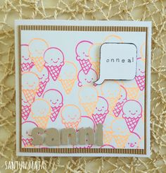 Santun Maja: Jätskikortti masking-tekniikalla. #cardmaking #craftideas #lawnfawn #masking #maskingtechnique #cards