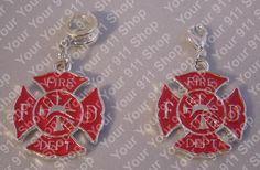 Red Maltese Cross Charm, $2.00