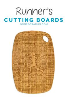 8ea9fc2f6d8b Add some running decor to your kitchen with our runner's cutting boards,  available exclusively from