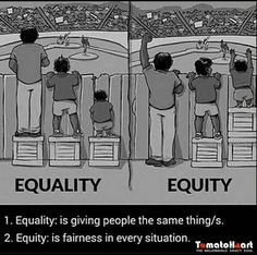 It's high time we learn the difference between the two #equality #equity #equityforall #equityisbetterthanequality #fairchancetoall #tomatoheart