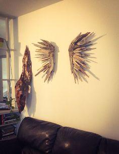 Driftwood Angel wing set,, Driftwood Sculpture, Wall Art, Reclaimed Driftwood, Driftwood Wing by EarthChildbyDesign on Etsy https://www.etsy.com/listing/218371226/driftwood-angel-wing-set-driftwood