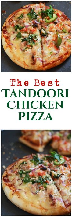Tandoori Chicken Pizza Recipe - Chicken Tandoori Pizza Indian. A very ...