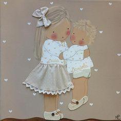 Cuadros de Bebés artesanales y personalizados de BB The Country Baby | Decoración Bebés y Habitaciones de Bebé