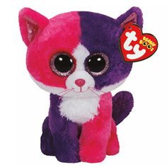 """<P>I like making funny faces, then I hide in secret places!</P><P>Your favorite cuddly friend in a bigger size. Pellie is an adorable pink and purple cat with big glittery pink eyes. Part of the Ty Beanie Boos collection. Collect them all!</P><UL><LI>Birthday: February 28th<LI>13""""H<LI>Plush</LI></UL>"""