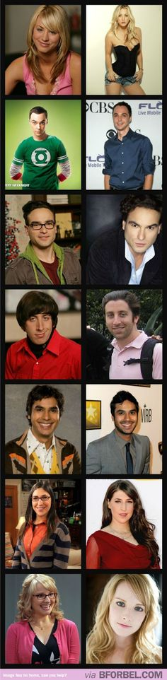 The Big Bang Theory Cast: On Set VS Real Life…