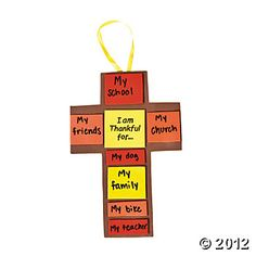 """""""I Am Thankful For..."""" Fall Cross Craft Kit (This is an old craft, I have made it for several years) 12/7.25"""